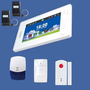 alarma completa de la pantalla a color del tacto del G/M de la radio en MHZ433 o MHZ868
