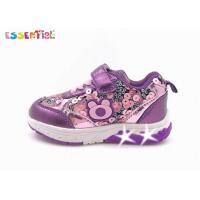 China Sequin Shiny Finish LED Lighted Sneakers , Tennis Shoes With Lighted Soles on sale