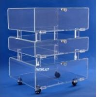 Buy cheap China Manufacture Plexiglass Hotel Trolley Cart product