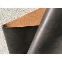 China PU Coating Leather Furniture Fabric , Dark Brown Leather Fabric For Upholstery on sale