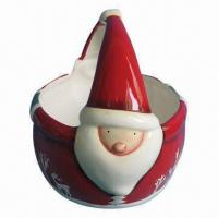 China Ceramic Fruit Basket, Santa Claus for Christmas Design, Customized Logos and Colors Available on sale