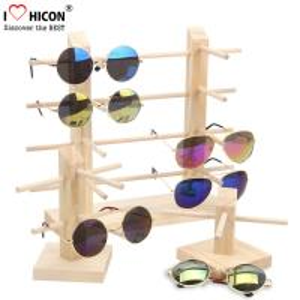 Buy cheap Countertop Colorful Waterproof Acrylic / Wood Sunglasses Display Rack from wholesalers