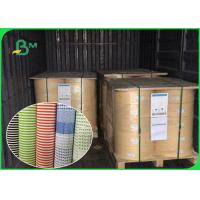 China Biodegradable Food Grade Printed Straw Paper Roll Stripe Color / Customized Color on sale