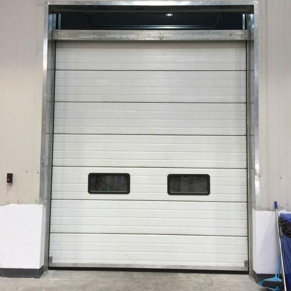 Closing Doors F : Fast vertical lifting steel sectional garage doors closing