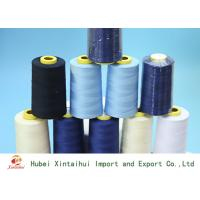 Durable 50/2 Dyed Polyester Yarn , Multi Colored Polyester Knitting Yarn