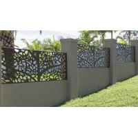 Buy cheap Powder coating steel cut partition or aluminum screen panel for metal screen fence or facade from wholesalers