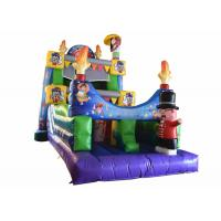 Quality Commercial Magic Circle Inflatable Dry Slide / Monkey Bounce House for sale