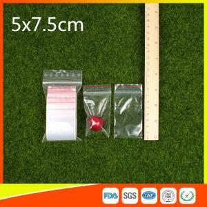 Buy cheap El Ziplock transparente del embalaje empaqueta el bocado y el caramelo plásticos que se puede volver a sellar from wholesalers