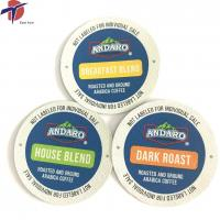 Quality K cup lids, Coffee capsule lids, aluminium foil lids, heat sealing aluminium for sale