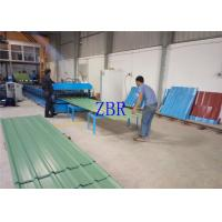 Buy cheap Aluminum Galvanized Roof Sheet Roll Forming Machine 1219mm Feeding Width With Pre - Cutting product