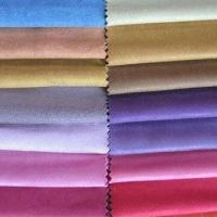 China Brushed Suede Fabric for Sofa, with Embossed and PU Coating Surface Finish on sale