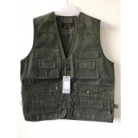 Buy cheap Mens classic vest in 100% polyester washed fabric, washed green color, S-3XL product