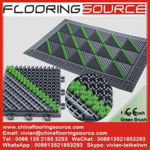Buy cheap Tapis résistant extérieur de logo de l'eau de drain de saleté d'arrêt de tapis de brosse de tapis de plancher de grattoir product