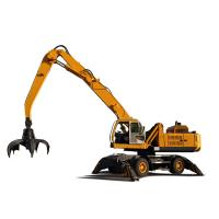 China 35 Ton Hydraulic Material Handler On Wheel For Steel Scrap Handling 12 Months Warranty on sale