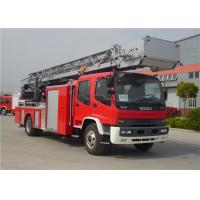 Buy cheap Hydraulic System Fire Rescue Ladder Truck , Speed Ratio 1.15 Hook And Ladder Fire Truck product