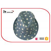 Buy cheap Dot Printing Womens Trilby Hats , Female Custom Green Trilby Fedora Hat product