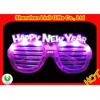 China LED flasing toys jalousi/window-blinds Happy new year light up glasses FA12091A for party on sale