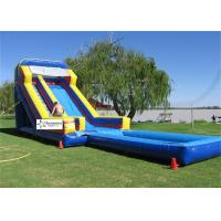 China Fire Resistant PVC Tarpaulin Giant Inflatable Water Slides For Rent on sale