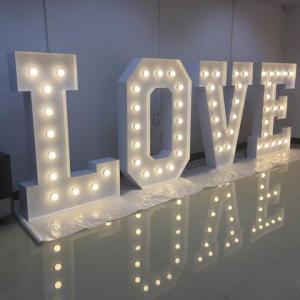 China Large Alphabet Illuminated Love Letters , Wedding LED Light Up Letters Signs on sale