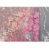 Buy cheap Colourful Lace Material For Dressmaking / Embroidered Sequin Fabric SGS Approval product