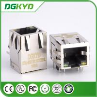 China Led Panel Mount Single Port Rj45 Network Connector KRJ - 5921S11GYZENL on sale