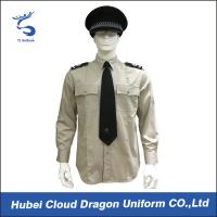 Buy cheap Lightweight Security Guard Shirts Long Sleeves With Adjustable Cuffs , Logo Printed product