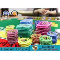 Square Crystal Acrylic RFID Casino Poker Chip Set Plaque Wear Resistant