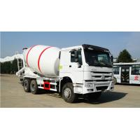 China Truck Concrete Mixer , Concrete Mobile Mixer Chassis Diesel 6x4 Left Hand Driving on sale