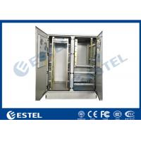 Buy cheap 30U Two Bay Outdoor Telecom Cabinet, for Commmunication Equipment, Rectifier, from wholesalers