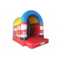 Buy cheap Small Size Firefighting Car Kids Inflatable Bounce House With Arc Roof 3x4m from wholesalers