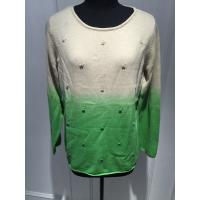 Soft Hand Feeling Floral Print Sweater / Dip Dye Sweater For Women