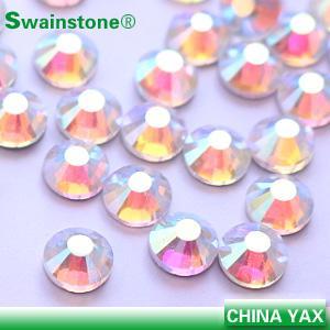 Buy cheap Wholesale Swainstone Flat Back Hot Fix Rhinestone Crystal Ab for Decoration product