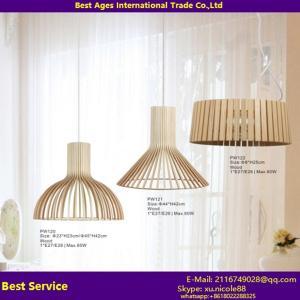 Buy cheap Candelabros coloridos modernos do UL SAA & luz de teto de madeira de suspensão da lâmpada de pendente das luzes E27 product