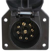 Buy cheap Black Plastic 9 Pin Trailer Plug For Connecting Tow Vehicle To Semi Trailer product