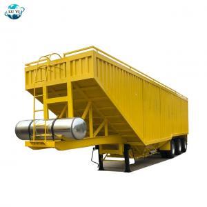 Buy cheap Customized 60t 80t grain corn transport semi trailer dump truck product