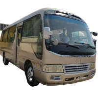 Buy cheap Gold Color Diesel Type 30000km Used Coaster Bus With 30 Seater product