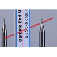 Buy cheap Carbide / Aluminum End Mill with HRC50 Hardness 45 Degree Helix Angle product