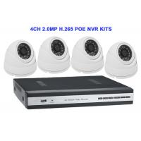 Buy cheap 4CH 2.0MP H.265 POE NVR KITS With Dome IP IR Camera from wholesalers