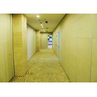 Buy cheap Acoustic Woven Modern Office Partitions Retractable  Steel Gusseted Reinforced product