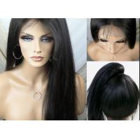 Buy cheap Straight Beauty Unprocessed Remy Full Lace Human Hair Wigs With Baby Hair product