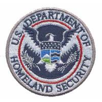 China Custom Embroidery patch Emblem U.S. Department of Homeland Security Eagle WDT11201  on sale