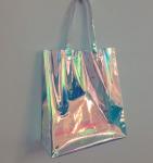 Buy cheap Rainbow Laser Hologram Travel Cosmetic Handbag Rainbow Laser PVC Tote Bag Rainbow Laser Shoulder Bag product