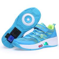 China fashion retractable roller shoes sneakers with light for children, kids light roller skate shoes sample for boys girls on sale