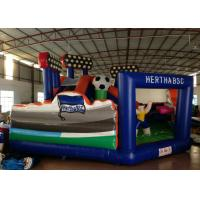 Buy cheap Football Games Inflatable Fun City 7 X 7m Digital Printing For Amusement Park  / Big Party product