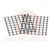 Buy cheap 400Kn / 400Kn Uniaxial Geogrid , Low Elongation Pet Geogrid For Airport Road Reinforcement product