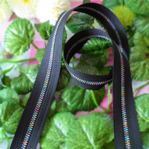 Buy cheap No. 5 rainbow metal zipper cloth belt black long chain for handbags clothing product