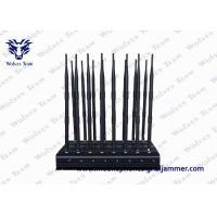 Buy cheap 16 Antennas High Power Mobile Phone Signal Jammer , GPS Lojack Remote Control All Bands Blocker product