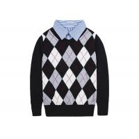 Buy cheap British Student Long Sleeved School Uniform Sweaters Cotton Intarsia Check product