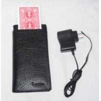 Buy cheap Black Leather Electronic Change Card Wallet Poker Cheat Device / Poker Card Analyzer product