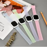 Buy cheap Promotional Gift Square Silicone Watch Colorful Rubber Wristband For Unisex product